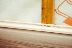 房屋板壁的设施在房子的门面的 库存图片
