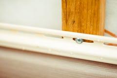 房屋板壁的设施在房子的门面的 免版税库存照片