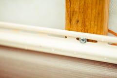 房屋板壁的设施在房子的门面的 图库摄影