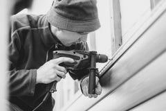 房屋板壁的设施 免版税库存图片
