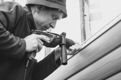 房屋板壁的设施 免版税库存照片