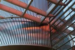 房屋板壁 金属板 被装双面玻璃的窗口 库存图片