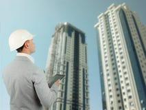 房屋检查员或结构工程师 图库摄影