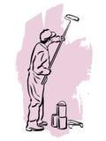 房屋油漆工 免版税库存照片
