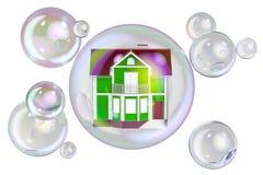 房屋泡沫概念, 3D翻译 向量例证