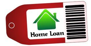 房屋贷款标签 免版税库存照片
