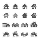 房屋建设象集合,传染媒介eps10 向量例证