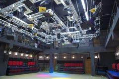 房间剧院场面的小霍尔 免版税库存照片