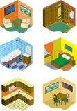 房间在房子里 向量例证