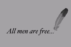 所有人是与笔的自由文字 皇族释放例证
