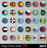 所有国家旗子有阴影的 库存照片