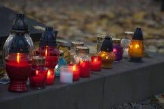 所有圣徒的蜡烛 库存图片