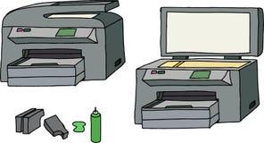 所有在一台打印机 免版税库存图片