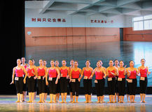 所有学生基本的舞蹈培训班 免版税库存图片