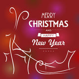 所有所有圣诞节鹿要素例证各自的对象称范围纹理导航 皇族释放例证