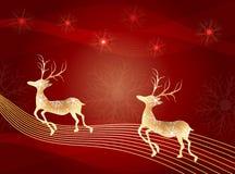 所有所有圣诞节鹿要素例证各自的对象称范围纹理导航 免版税库存图片