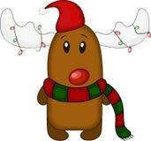 所有所有圣诞节鹿要素例证各自的对象称范围纹理导航 图库摄影