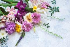 所有所有构成要素花卉例证各自的对象称范围纹理导航 库存图片