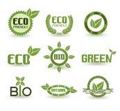 所有所有eco要素例证各自的对象称符号范围纹理导航 库存图片