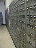 所有把计算办公室过帐的闭合的数字装箱三 免版税库存照片