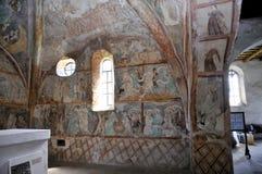 所有教会ludrov paitings圣徒墙壁 免版税库存照片