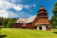 所有木教会Svaty Kriz在斯洛伐克 免版税库存图片