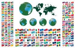所有标志世界 向量例证