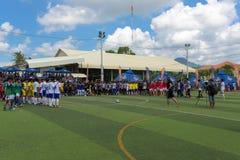 所有橄榄球队小组照片  Kampot,柬埔寨 免版税图库摄影