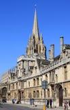 所有灵魂学院和圣玛丽维尔京牛津 图库摄影