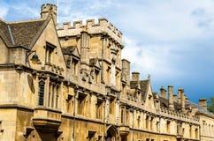 所有灵魂学院墙壁在牛津 免版税库存照片
