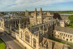 所有灵魂学院牛津大学,牛津,英国 免版税图库摄影