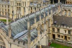 所有灵魂学院,牛津大学,牛津,英国细节  形成弧光的 库存照片