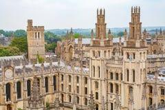 所有灵魂学院 牛津英国 免版税库存照片