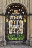 所有灵魂的学院入口门,牛津,英国 库存图片