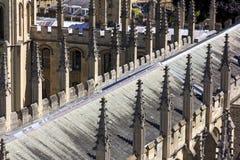 所有灵魂的学院装饰尖顶在牛津 库存照片