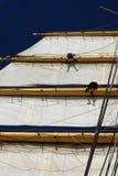 所有甲板人员航行 库存图片