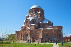 所有的上帝喜悦的母亲的象的大教堂哀痛圣约翰浸礼会教友女修道院 Sviyazhsk 免版税库存照片