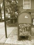 所有符号终止战争 免版税库存图片