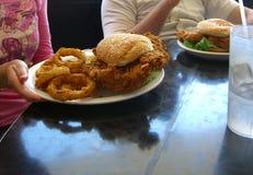 所有美国饮食 免版税库存照片