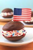 所有美国饼whoopie 免版税库存照片