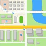 所有背景更改城市上色无缝的映射选择分隔的样片向量的容易的单元文件层 免版税库存图片