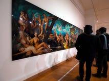 所有艺术过滤了画廊照片全部照片的墙壁 免版税库存照片