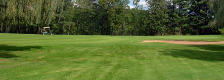 所有路线高尔夫球  库存图片