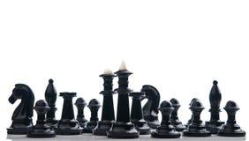 所有黑棋子 库存图片
