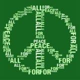 所有绿色BG的和平 免版税库存图片