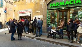 所有` Antico Vinaio在佛罗伦萨,意大利 免版税图库摄影