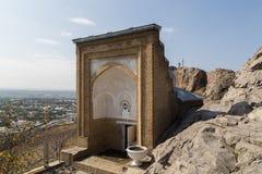 所罗门的王位在奥什,吉尔吉斯斯坦 图库摄影