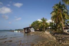 所罗门群岛的地方村庄 免版税库存照片