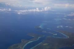 所罗门群岛鸟瞰图 免版税库存图片