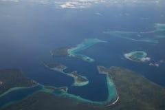 所罗门群岛鸟瞰图 库存图片